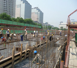 AES Holding Construction Supervision on site